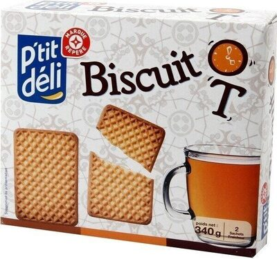 Biscuits secs 'thé' - Produit - fr