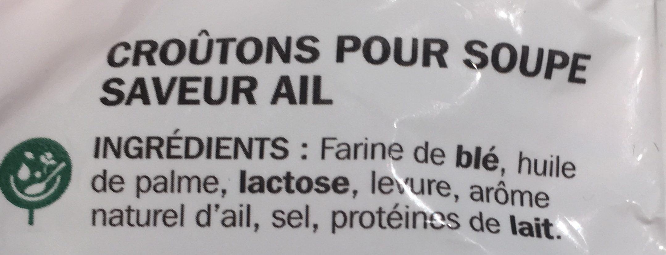 Croûtons saveur ail spécial soupe - Ingrédients - fr