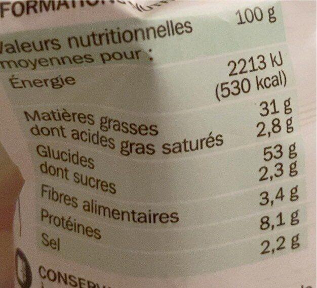 Croûtons saveur ail spécial soupe - Informations nutritionnelles - fr