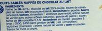 Sablés céréale chocolat au lait en pocket x 6 - Ingredients