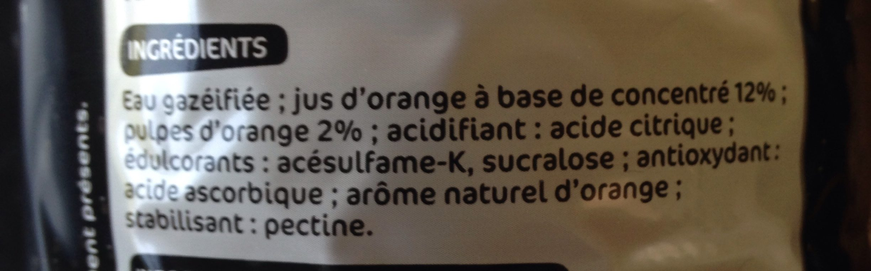 Soda orange zéro pulpe - Ingrediënten