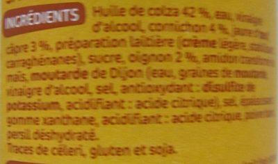 Sauce tartare - pot - Ingrédients