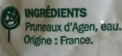 Pruneau agen pasteurisé - Ingredients - fr