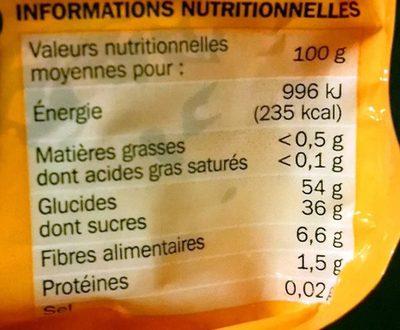 Pruneau agen pasteurisé - Nutrition facts