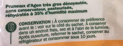 Pruneaux d'Agen dénoyautés pasteurisés - Ingredients - fr