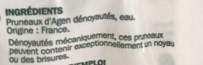 Pruneaux d'Agen dénoyautés - Ingredients