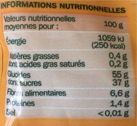 Pruneaux d'Agen dénoyautés pasteurisés - Nutrition facts - fr