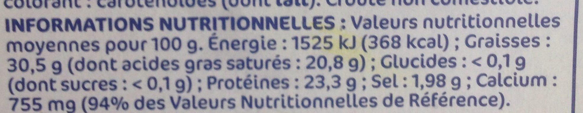 Gouda portion 31%mg - Voedigswaarden