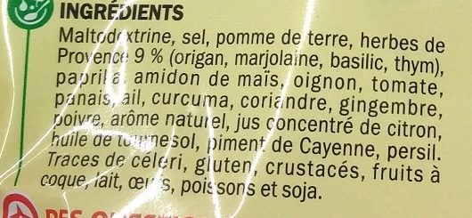 Sachet cuisson poulet herbes de provence - Ingrediënten