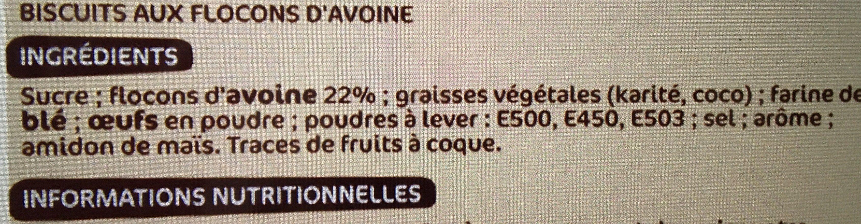 Galettes suedoises flocon avoine - Ingredients