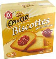 Biscottes goût brioché x 36 - Produit