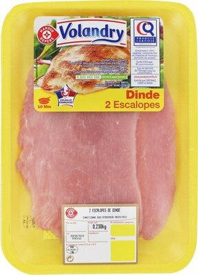 Escalopes de dinde x2 - Product - fr