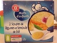 2 Soupes de légumes et semoule de blé - Produit - fr