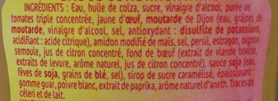 Sauce burger - Ingredients