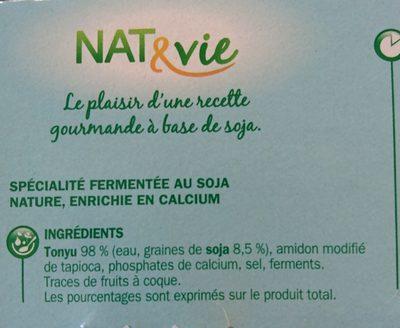 Spécialité au soja nature - Ingrediënten