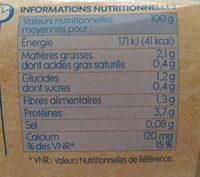 Spécialité au soja nature - Voedingswaarden - fr