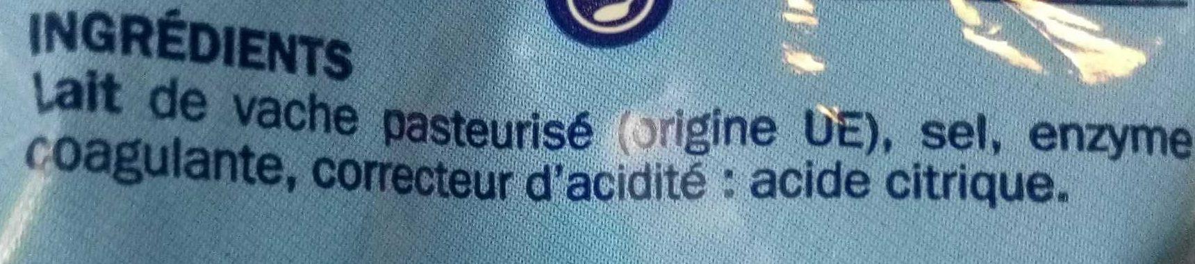 Mozzarella les crois s 375 g - Acide citrique leclerc ...
