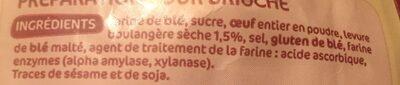 Préparation pour brioche - Ingrédients - fr