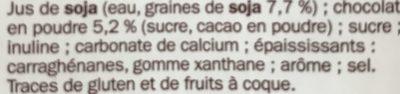 Boisson au soja au chocolat - 6 l PACK - Ingredienti - fr