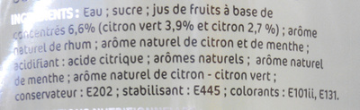 Cocktail sans alcool mojito - Ingrédients - fr