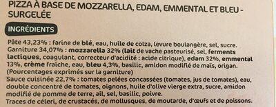 Pizza Merveillosa 4 fromages - Ingrédients - fr