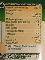 Pur jus orange carotte banane - Informations nutritionnelles - fr