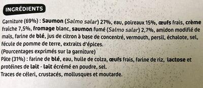 Tarte saumon et poireaux - Ingrediënten - fr