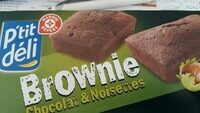 Brownies individuels chocolat & noisette x 8 - Product - fr