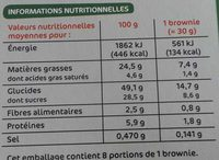Brownies individuels chocolat & noisette x 8 - Voedingswaarden - fr