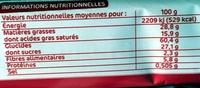 Sprits au chocolat noir - Nutrition facts