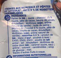 Cookies méga pépites de chocolat et noisettes - Ingrediënten - fr