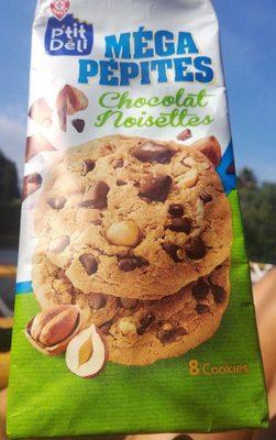 Cookies méga pépites de chocolat et noisettes - Voedingswaarden - fr