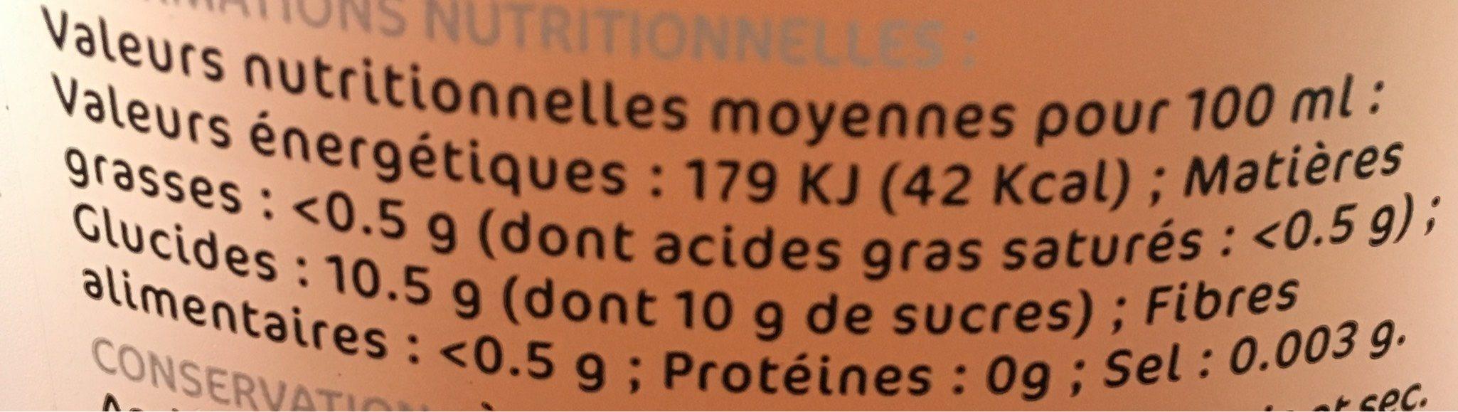 Cocktail sans alcool rosé pamplemousse - Nutrition facts