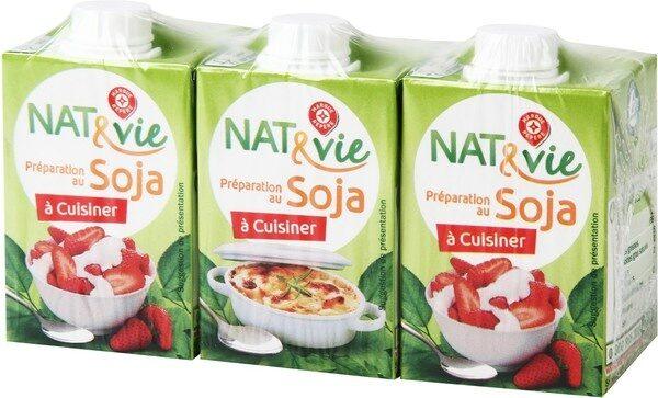 Préparation au soja à cuisiner 5% Mat. Gr. 3 x 20 cl - Product - fr