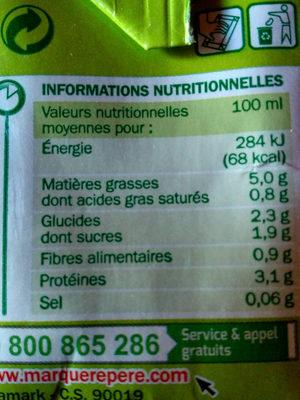 Préparation au soja à cuisiner 5% Mat. Gr. 3 x 20 cl - Nutrition facts - fr