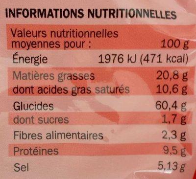 Nouilles asiatiques poulet - Informations nutritionnelles - fr