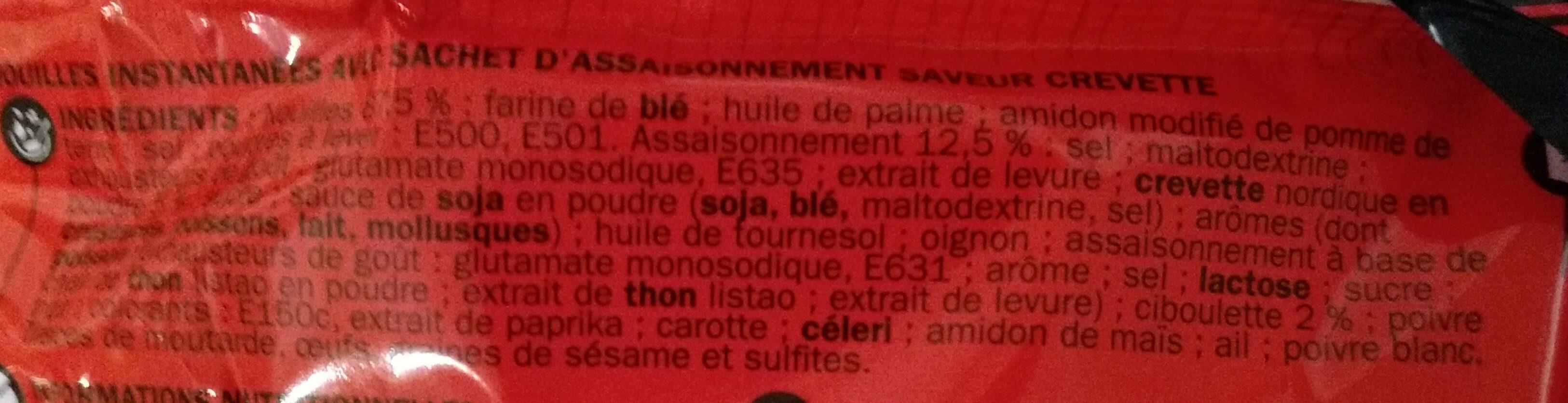 Nouilles asiatiques crevette - Ingrédients - fr