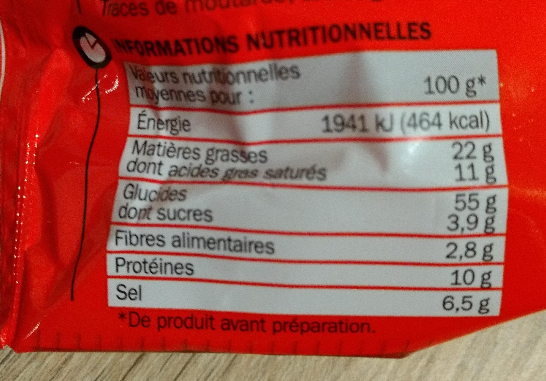 Nouilles asiatiques crevette - Informations nutritionnelles - fr