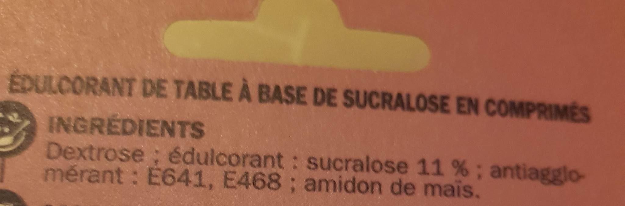 Edulcorant sucralose x300comp - Ingrédients - fr