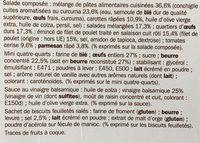 Salade poulet crudités parmesan - coffret - Ingrediënten - fr