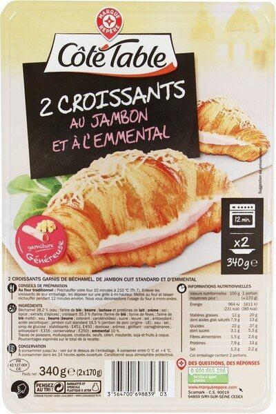 Croissants au jambon et à l'emmental x 2 - Product - fr