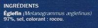 Emincés de haddock - Ingrédients - fr