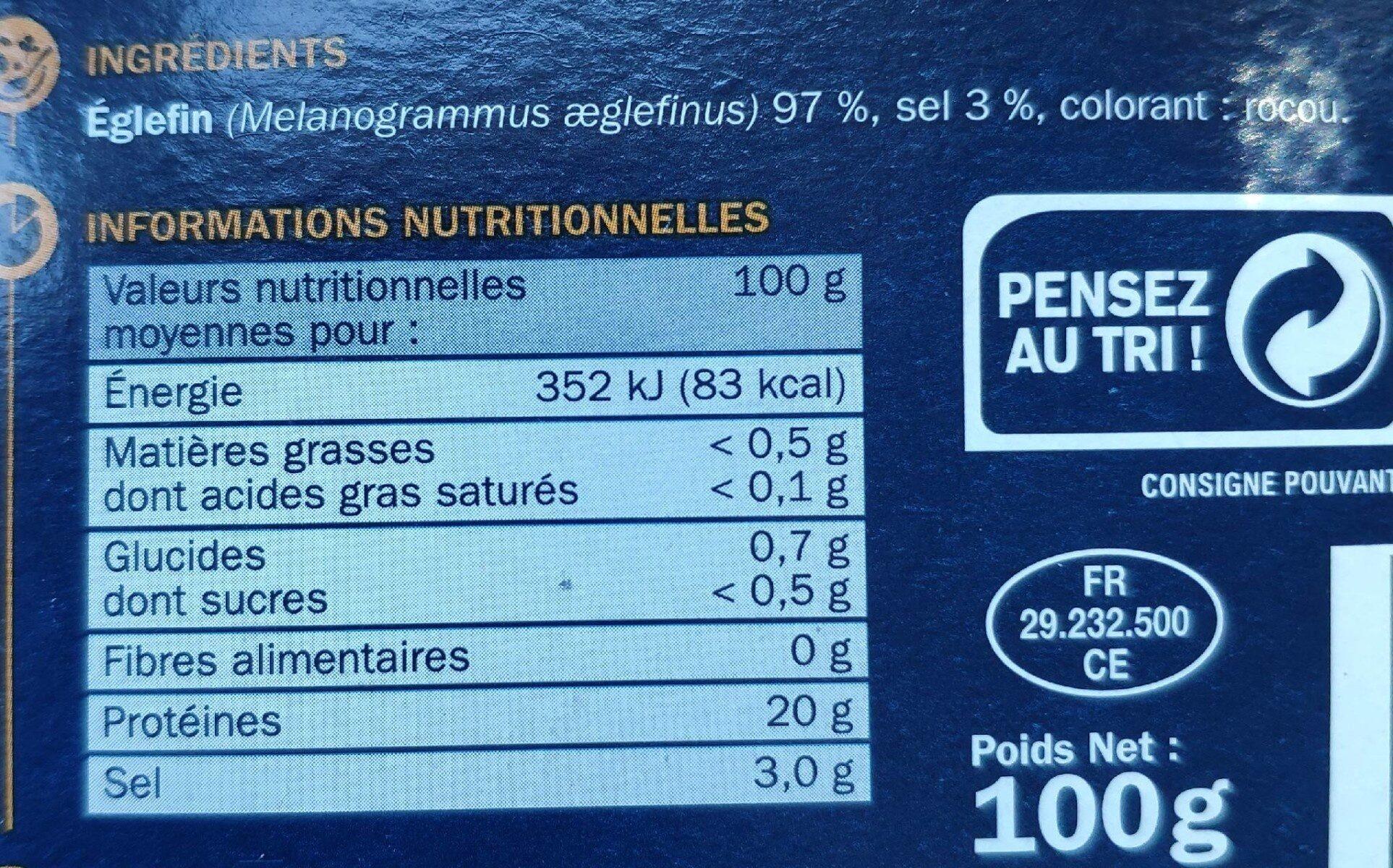 Emincés de haddock - Informations nutritionnelles - fr