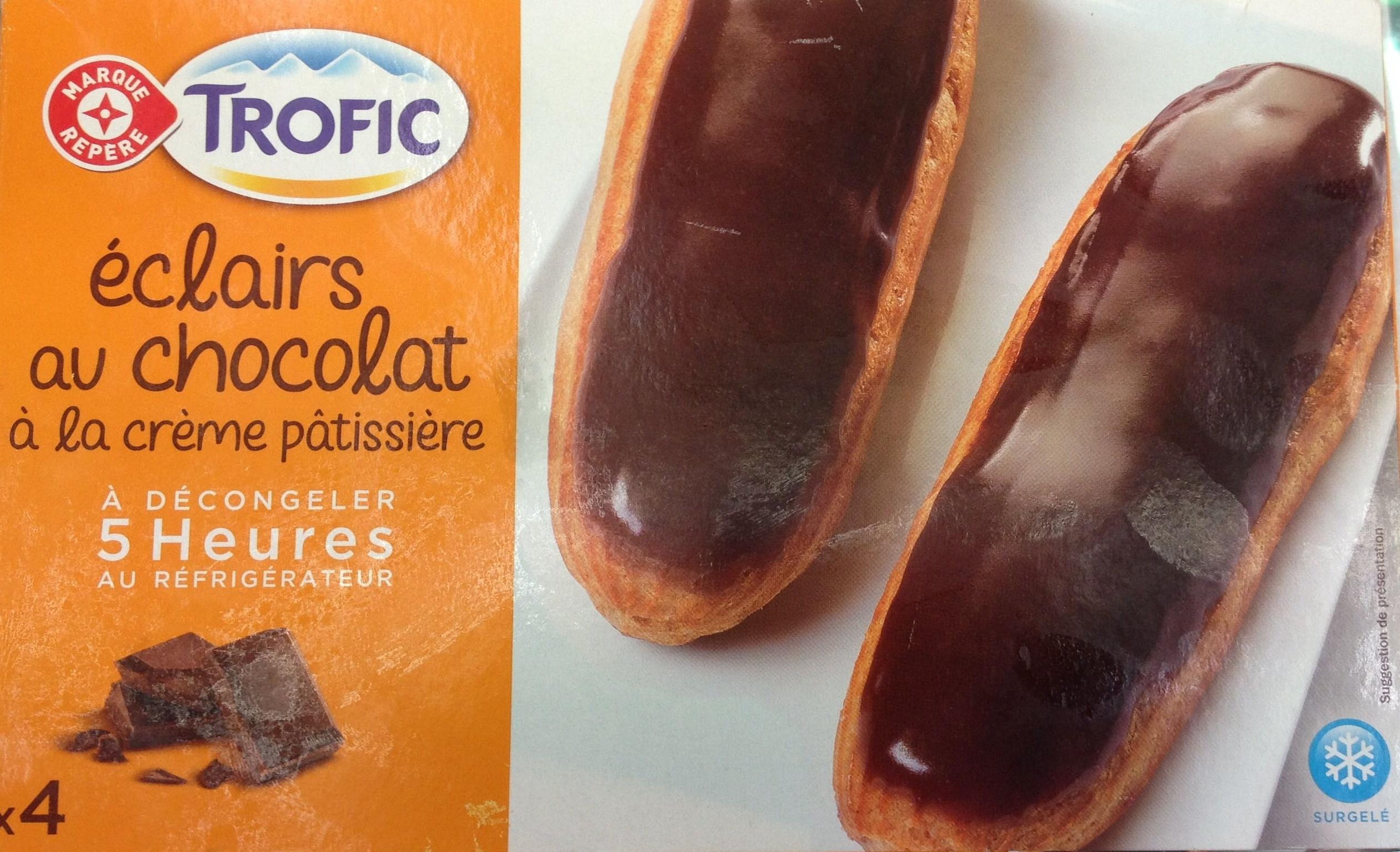 Trofic - éclairs au chocolat à la crème pâtissière - Produit - fr