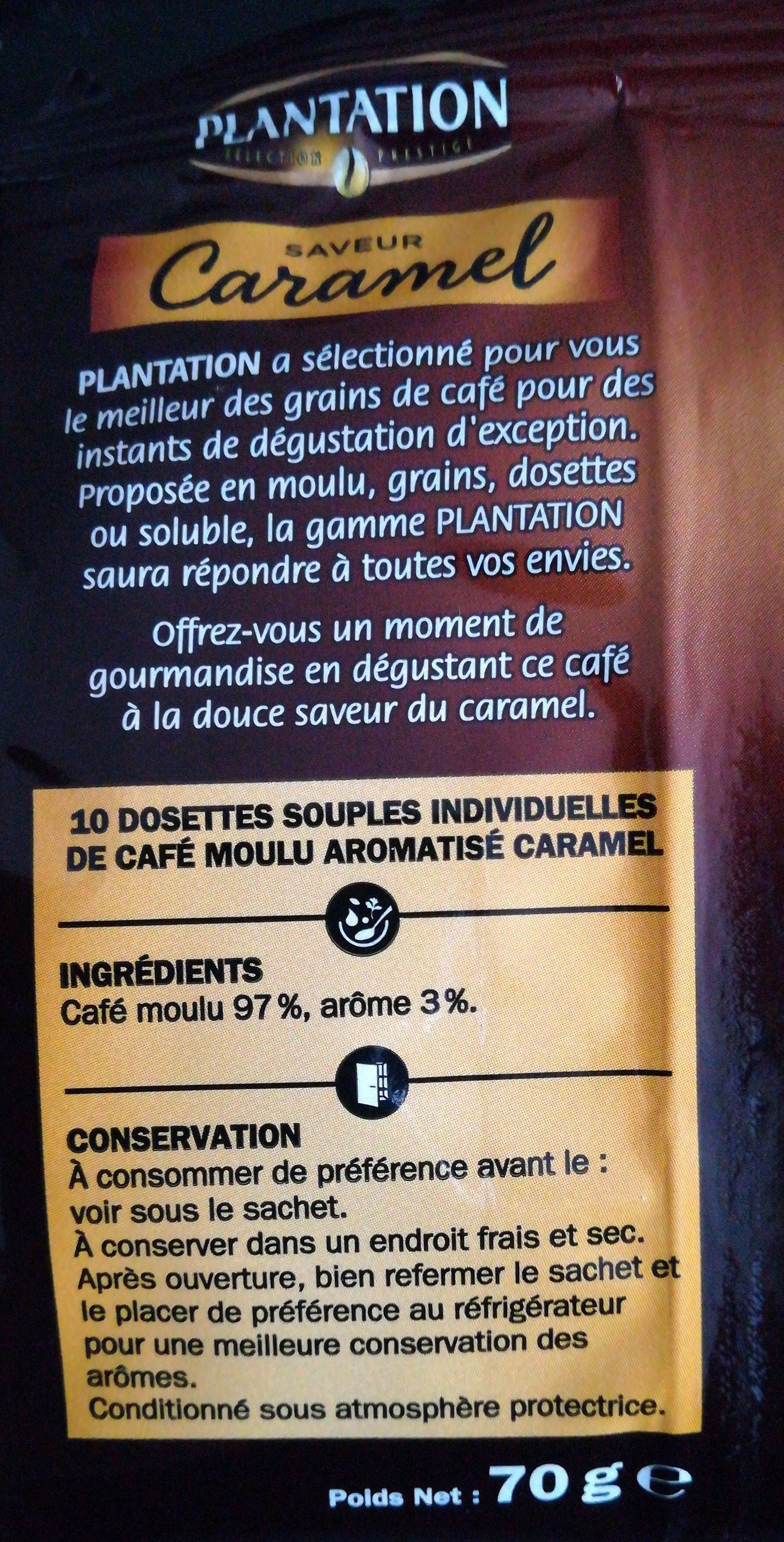 Dosettes café saveur caramel x 10 - Ingrédients - fr