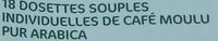 18 dosettes souples du bresil pur arabica - Ingredients - fr
