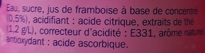 Boisson au thé aromatisé framboise - Ingredients