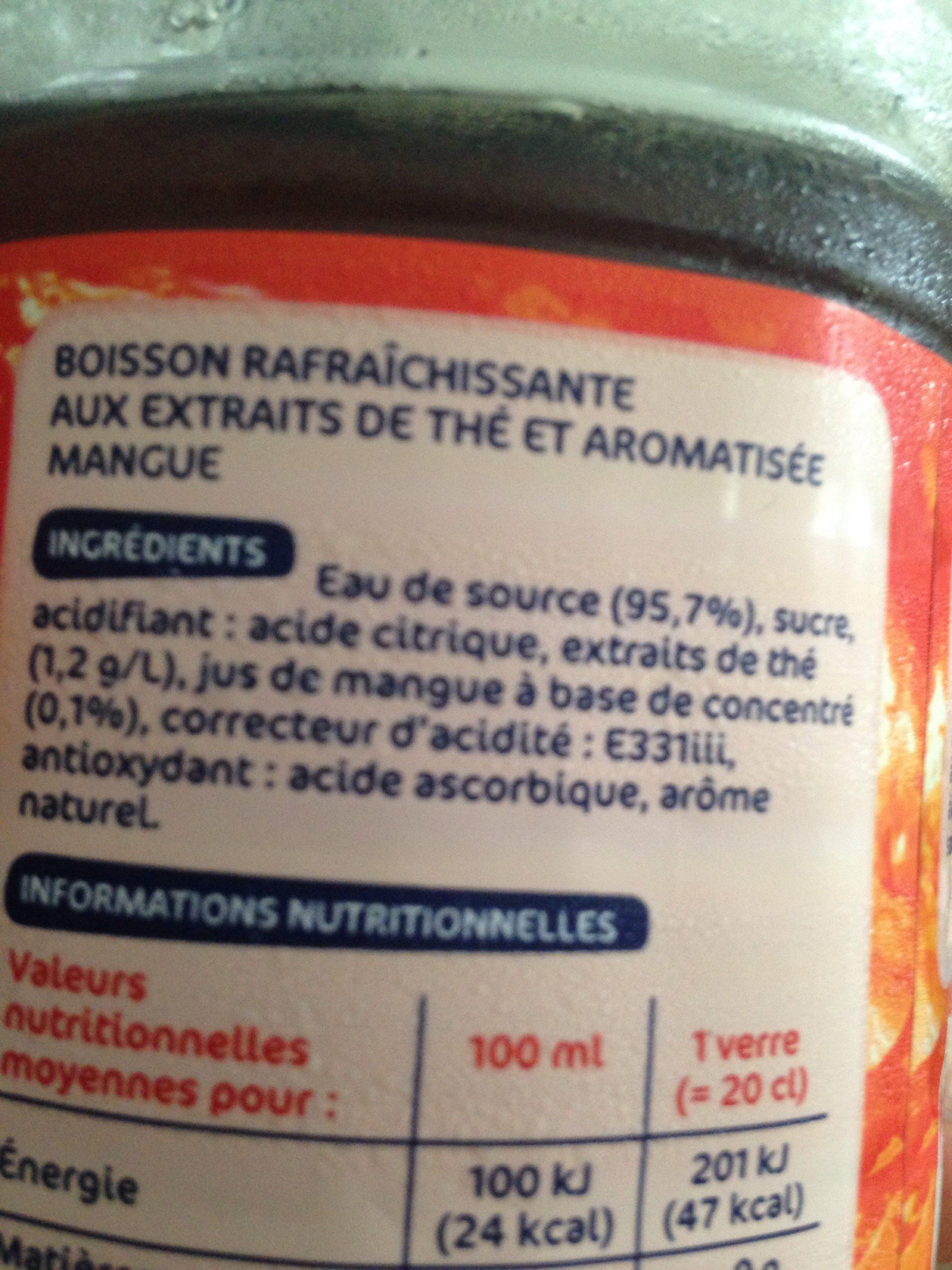 Boisson au thé aromatisé mangue - Ingredients