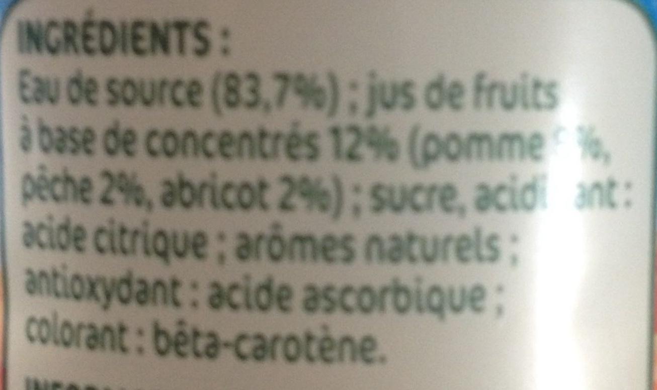 Pêche Abricot à l'Eau de Source - Inhaltsstoffe - fr