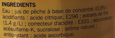 Boisson au thé aromatisé pêche zéro - Ingrédients - fr